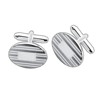 Sterling Pinstripe Cuff Links