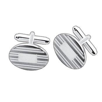 Sterling Pinstripe Cuff Links