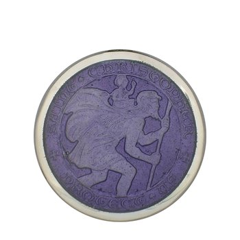 Purple Medium St. Christopher Medal