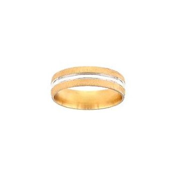 Two Tone Gold Wedding Band