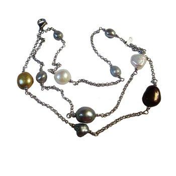 Multi Pearl Triple Strand Bracelet