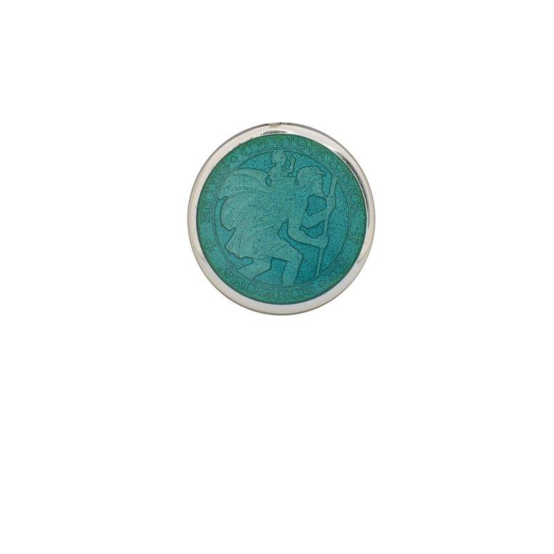 Aqua Extra Small St. Christopher Medal