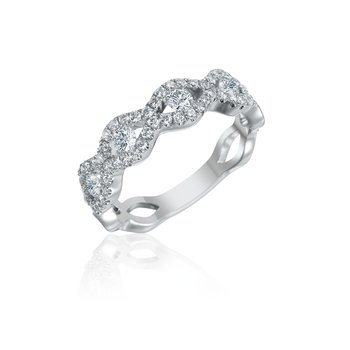 Diamond Scalloped Anniversary Band