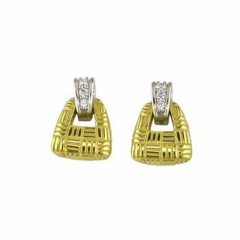 Parquet Small Door Knocker Earring