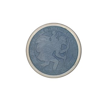 Gray Small St. Christopher Medal