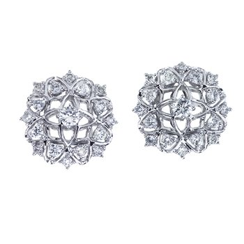 Diamond Filagree Stud Earrings