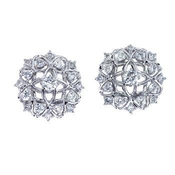 Diamond Filagree Stud Earrings