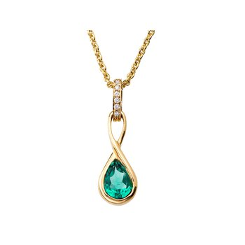 Pear Shape Emerald Drop Pendant