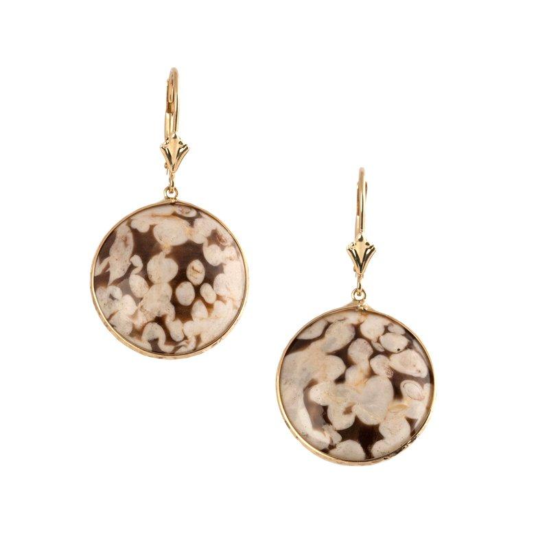 Unique Leopard Agate Stone Earrings