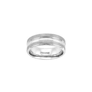 White Gold Triple Band Wedding Ring
