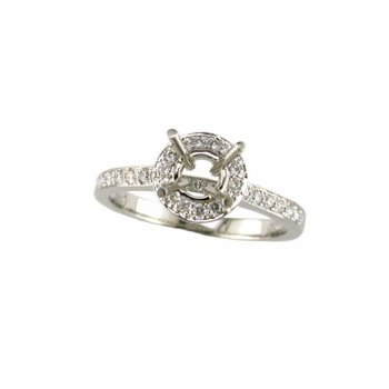 Diamond Engagement Small Halo Mounting
