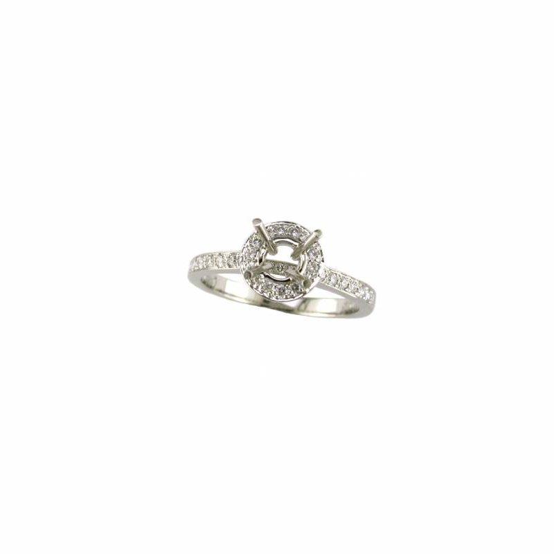 Diamond Engagement Small Halo Mounting