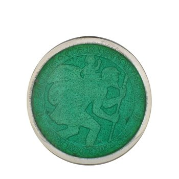 Jade Medium St. Christopher Medal