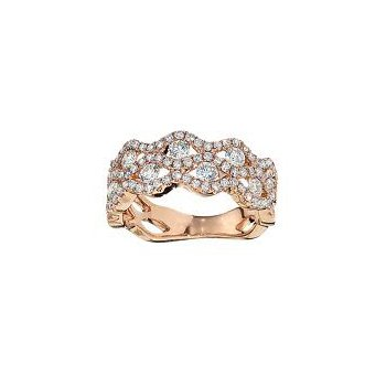 Double Row Scalloped Diamond Band