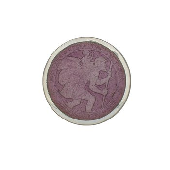Lavender Small St. Christopher Medal