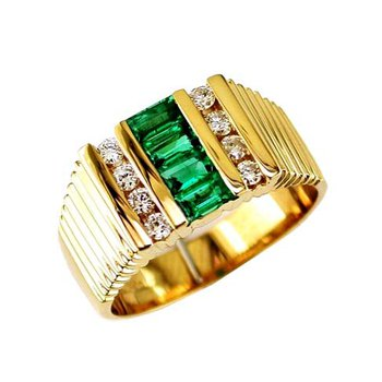 Men's Emerald Ring
