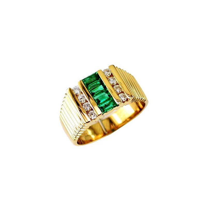 Royal Jewelry Men's Emerald Ring