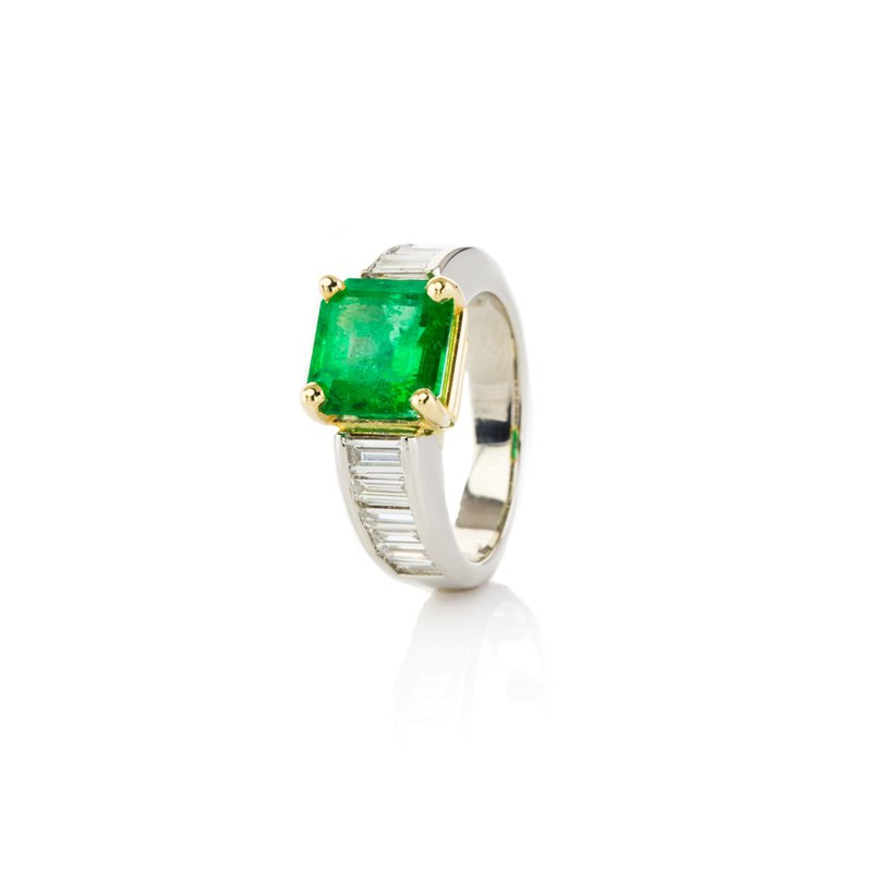 Fuller's Collection Emerald Diamond Ring