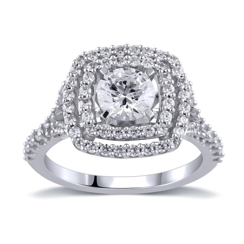 Fuller's Collection Cushion Halo Engagement Ring