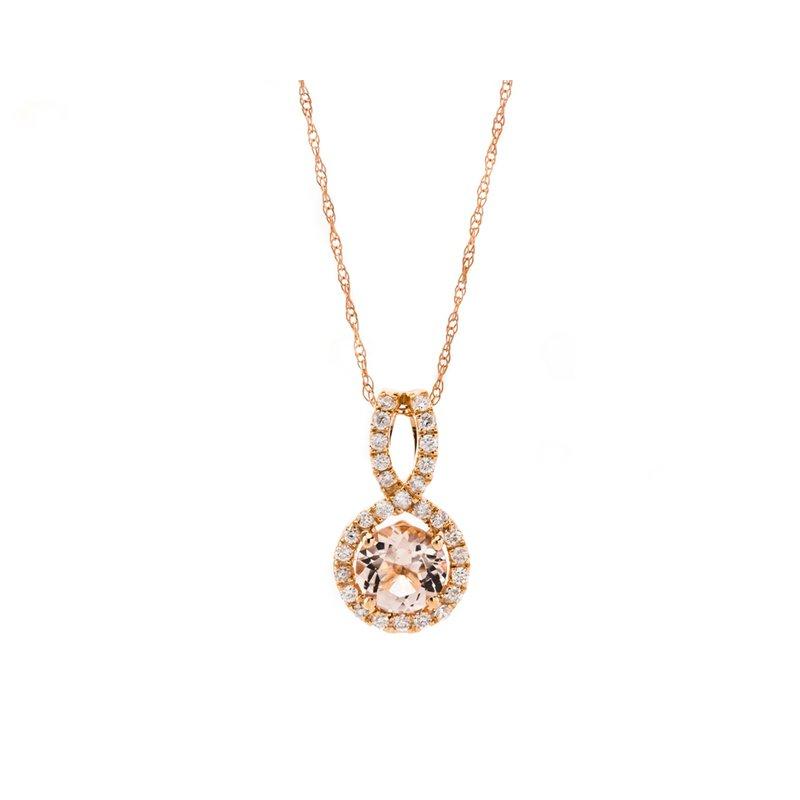 Royal Jewelry Morganite rose gold pendant