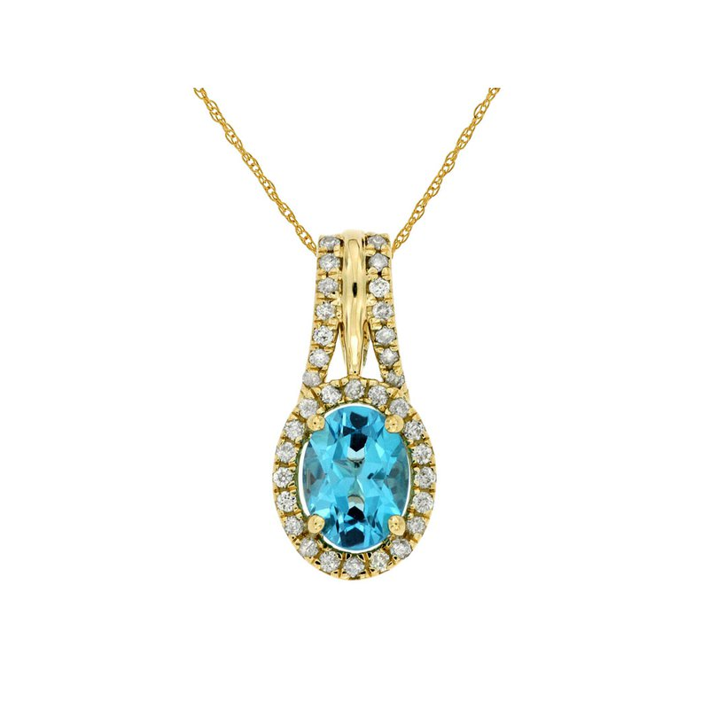 Royal Jewelry Blue Topaz Necklace