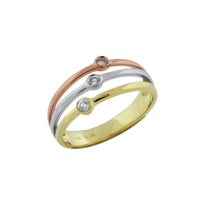 Royal Jewelry Tri Gold Ring