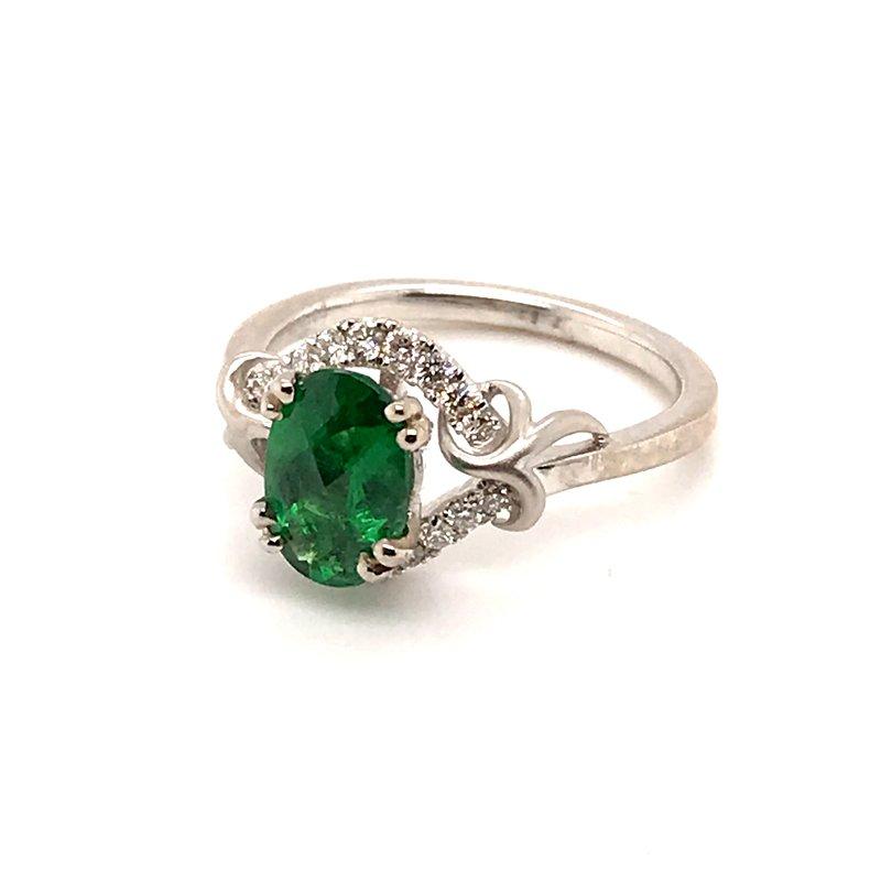 Barany Signature Tsavorite Garnet and diamonds fashion ring