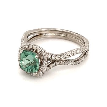 Sea-foam tourmaline fashion ring