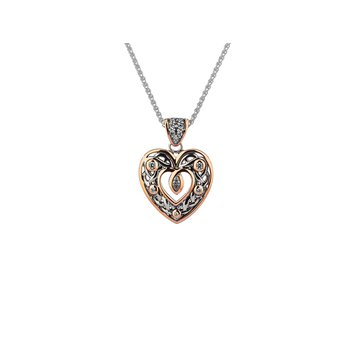 Celtic Heart with CZ pendant by Keith Jack