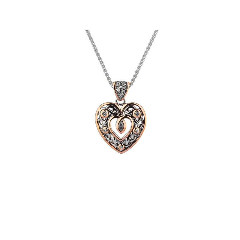 Barany Signature Celtic Heart with CZ pendant by Keith Jack