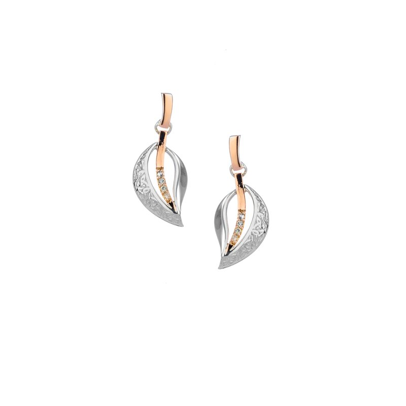 Barany Signature Trinity Leaf Earrings by Keith Jack