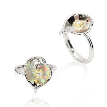 Galatea Calla Lily Ring from Gloria Collection