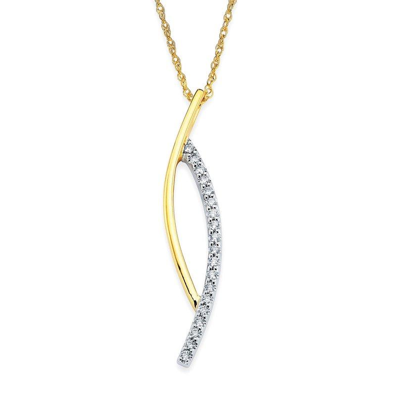 Barany Signature Two-tone diamond pendant