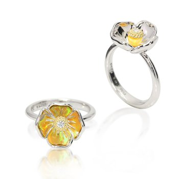 Galatea California Poppy ring from Gloria Collection