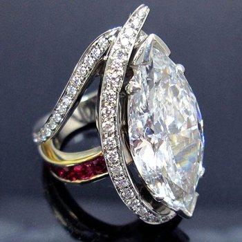 Two Tone 14 Karat One of a Kind Diamond Ring