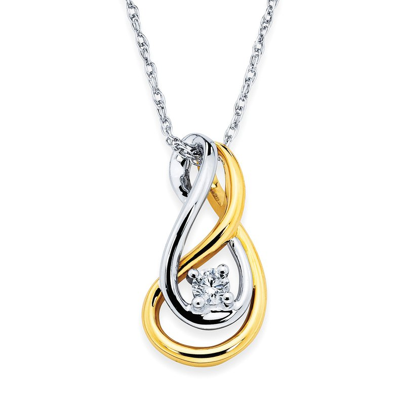 Barany Signature Two tone diamond pendant