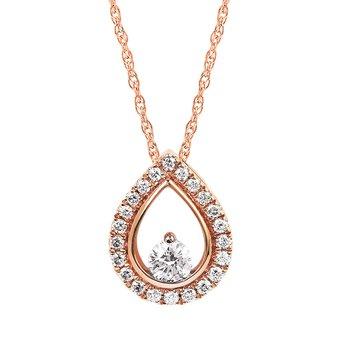 Two-tone diamond pendant