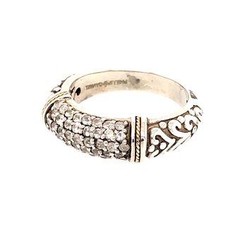 White sapphire ring by Phillip Gavriel