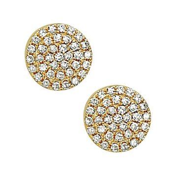 Diamond stud earrings by Bassalli