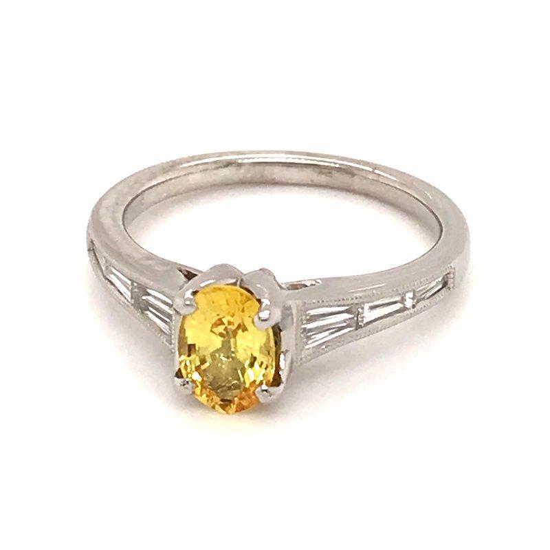 Barany Signature Yellow sapphire and diamonds fashion ring