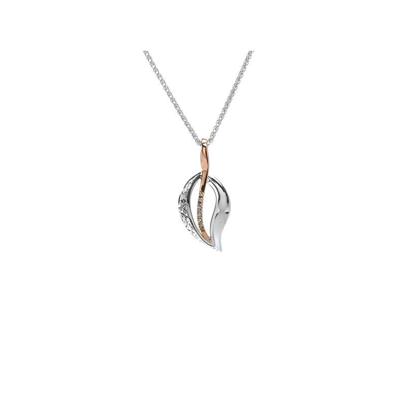 Barany Signature Trinity leaf pendant by Keith Jack