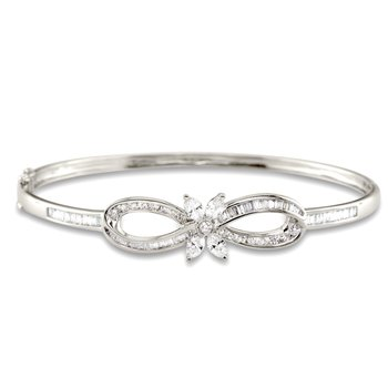 Bow and Marquis Bangle Bracelet