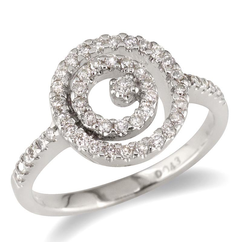 Gold Fire Diamonds Double Circle Ring