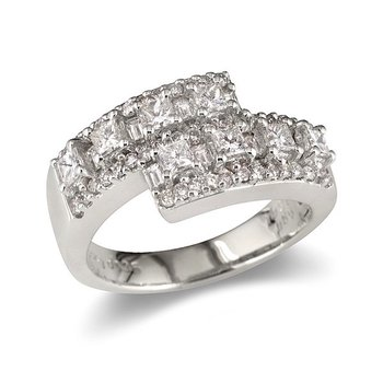Princess & Round Overlap Wedding Band