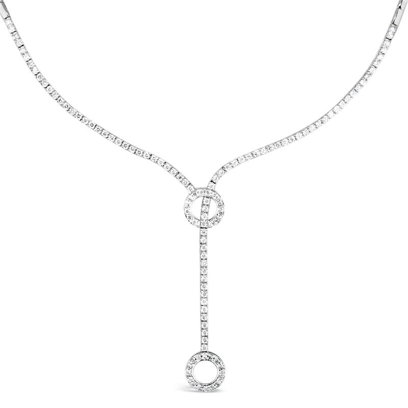 Gold Fire Diamonds Rope And Circle Necklace