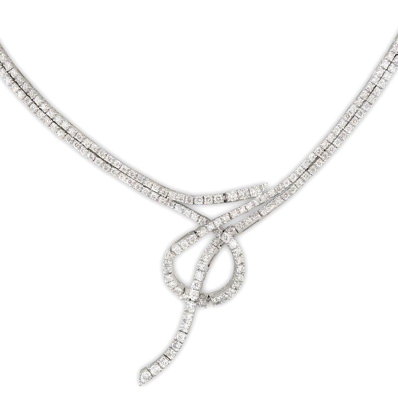 Gold Fire Diamonds Knot Necklace