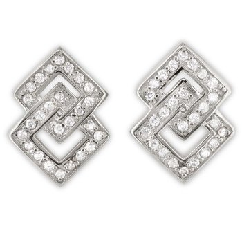 Interlocking Square Earrings