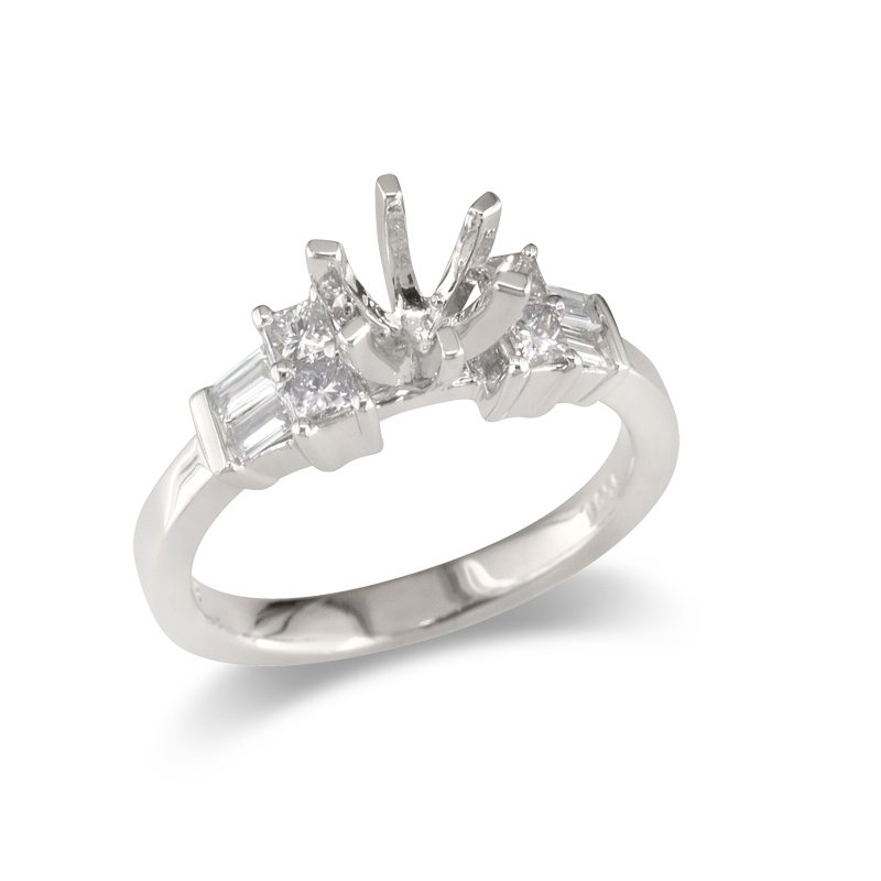 Gold Fire Diamonds Four and Four Semi Mount