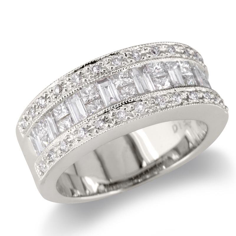 Gold Fire Diamonds Baguette/Princess Center WB