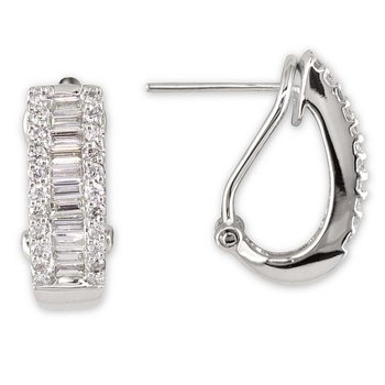 Hinged Triple Row Earrings